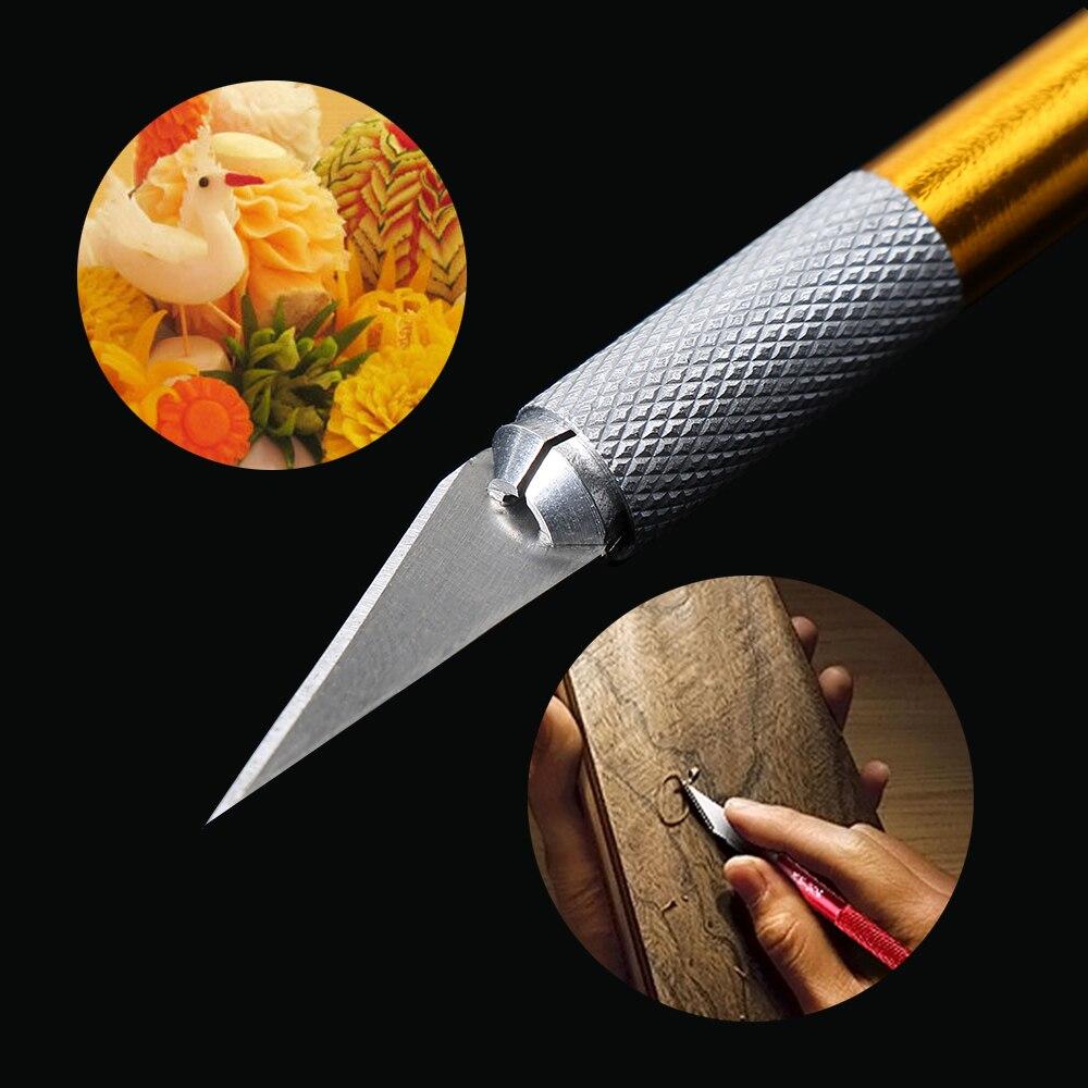 1 шт. художественный нож с крышкой нескользящий металлический нож для скальпеля набор инструментов Резак гравюра ножи канцелярский резак PCB набор инструментов