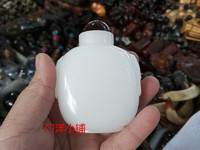 Chinese Unique Style Glass Glaze Carved Snuff Bottles