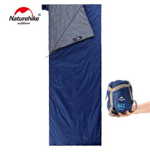 цены Naturehike Lengthened Envelope Sleeping Bag Cotton Splicing Ultralight Adult Portable Outdoor Camping Hiking 3 Seasons 205*85cm