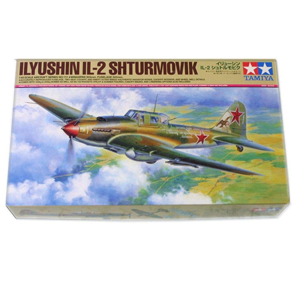 OHS Tamiya 61113 1/48 Ilyushin IL2 Shturmovik Soviet Assembly Airforce Model Building Kits цена и фото