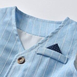 Image 4 - Tem Doger Baby Boy Clothing Sets 2018 Spring Newborn Infant Boy Clothes Shirt+ Pants+Vest 3PCS Suit Bebes Boys Gentleman Costume