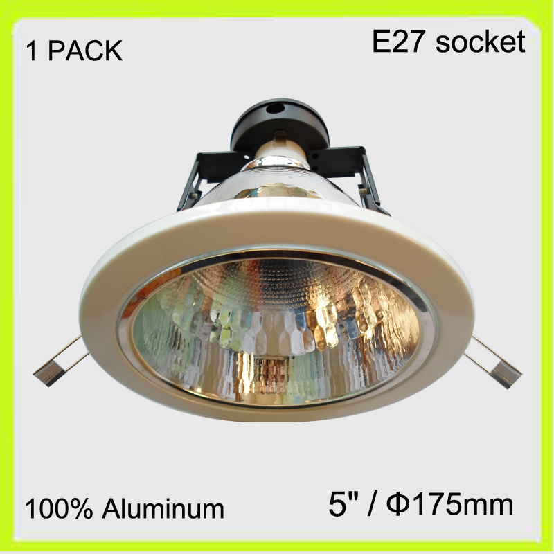 Free Shipping Manufacturer Aluminum Led Down Light Fixture For LED Bulbs  E27 Screw Dia175mm Round Fittings