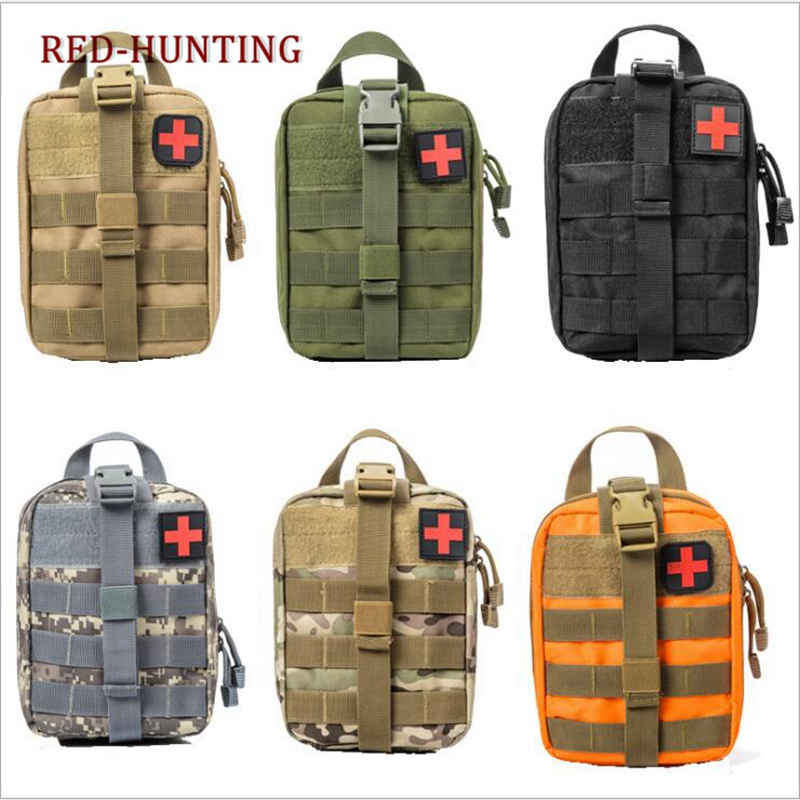 Tactical MOLLE EMT Pouch Medical Utility Bag Top Nylon With First Aid Patch For Paintball Outdoor