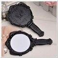 Borboleta espelho de plástico dobrável de bolso portátil cosméticos mão Compact Make Up atacado 7.3 * 13 cm