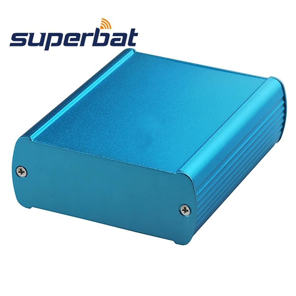 1aab118620bb Superbat azul aluminio extruido 82*32*100mm Amplificadores PCB electrónica  caja de conexiones DIY contenedor 3.23 * 1.26 * 3.94