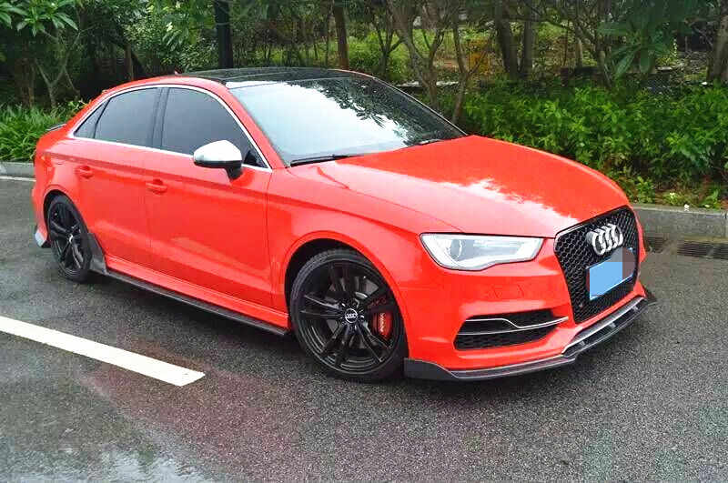 For AUDI A3 8V Models Side Skirts Spoilers 5 DOOR S3 STYLE Valance