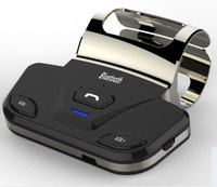 Siparnuo Steering Wheel Wireless Bluetooth Car Kit Speakerphone with Car Charger Bluetooth Speaker in Car Steering Wheel Black