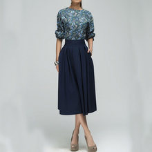 Women Ladies Casual Floral Printed Half Balloon Sleeve Waisted Dress for  Party(China) 87205d4d5ee9
