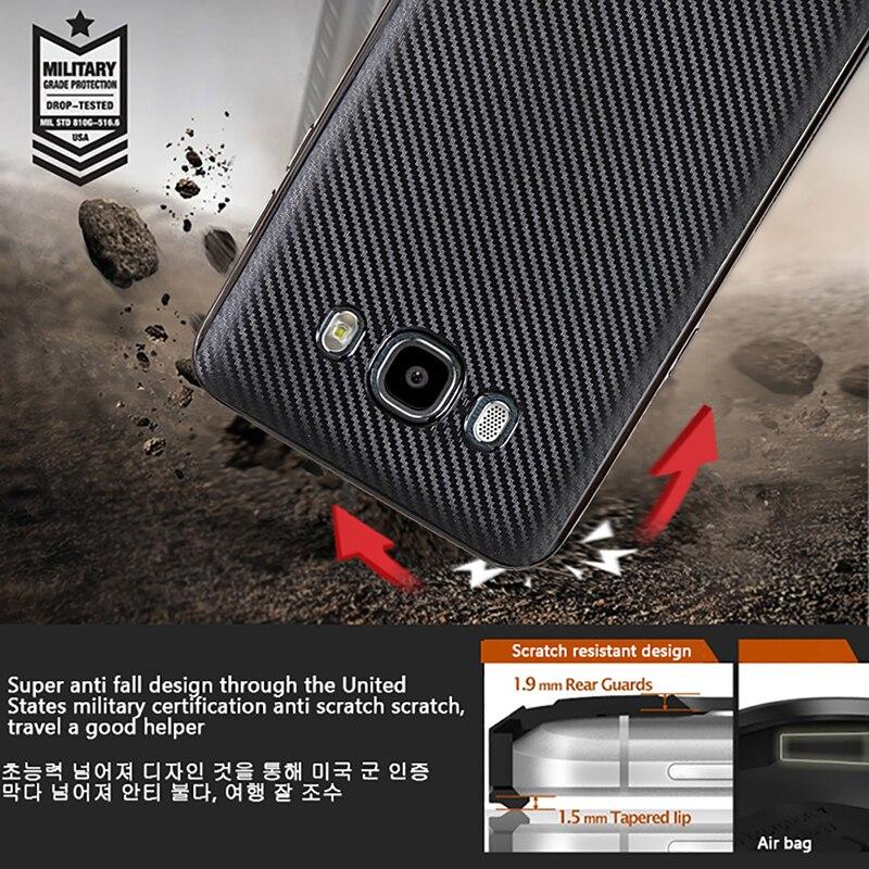 GXE Carbon Fiber Case For Samsung Galaxy J1 J2 J3 J5 J7 2017 2016 Prime TPU Shell Anti-skid Hybrid Coque Shockproof Back Cover