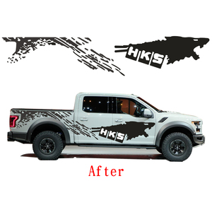 Image 3 - Cool Sticker For Nissan NAVARA Frontier Personality Car Styling Funny DIY Decal Car Whole Body Car Decoration 2pcs Car Styling