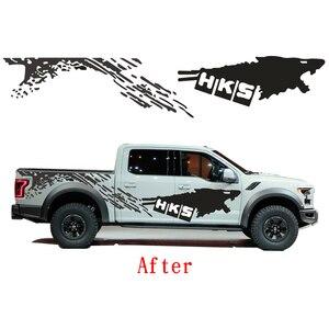 Image 3 - Pegatina bonita para coche Nissan NAVARA Frontier, calcomanía DIY divertida, decoración para todo el cuerpo del coche, 2 uds.