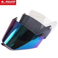 Face shield for LS2 MX 436 Full face motocross helmet Light smoke visor lens glass for LS2 MX436 motorcycle helmets