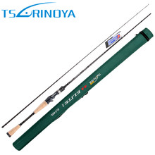 Tsurinoya 1.98m ML Baitcasting Fishing Rod 2 Sections 5-15g Carbon Lure Rods FUJI Accessories Action:Fast Pesca Stick Tackle
