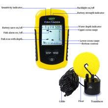 Portable Sonar Alarm Fish Finder Echo Sounder 0.7-100M Transducer Sensor Depth Finder