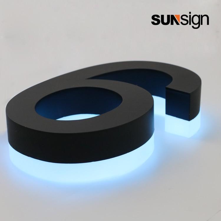 Outdoor Lighted Channel Letter Backlit Halo Lit House Number