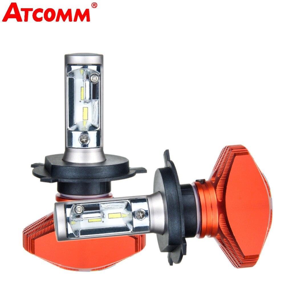 ATcomm LED Car Headlight Bulb H1 H3 H4 H7 H11/H8/H9 9005/HB3 9006/HB4 9012/HIR2 12V 24V 6500K White 80W 8000lm CSP Chip Fog Lamp