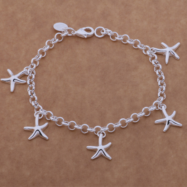 SL-AH124 Wholesale silver plating bracelet, 925 stamped silver fashion jewelry The starfish /bgiajxpa afhaiwoa