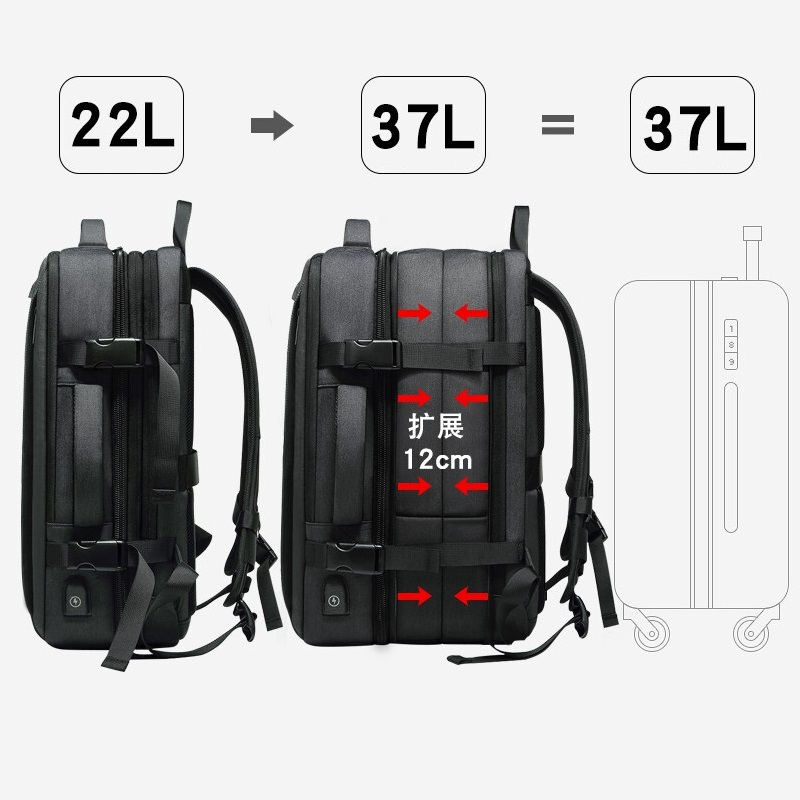 Multifunction 17 Inch Laptop Backpacks For Teenage Men Travel Backpack Bag Large Capacity Casual Vintage 2018 New
