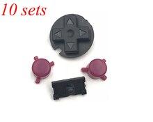 10 bộ Màu Đỏ Đen MỘT B Nút Bàn Phím cho Gameboy Advance Túi GBP On Off Nút Power cho GBP D Miếng Đệm nút Power