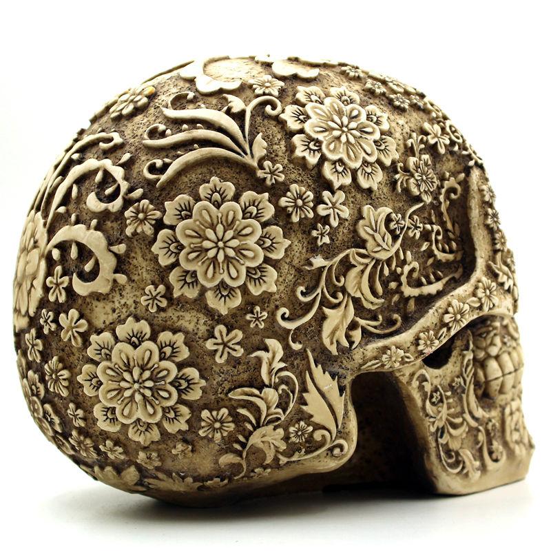 Halloween Home Bar Table Grade Dekorativa Hantverk Human Skull Resin - Semester och fester - Foto 5