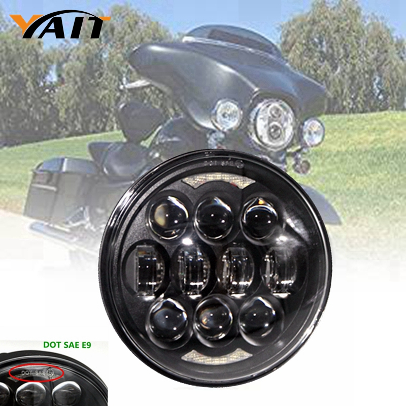 5 3/4 Daymaker LED Projection Headlight for Harley Sportster Dyna Indian Scout 5 75inch round led projection daymaker headlight motorcycle h4 hi lo beam 5 3 4 inch headlamp for harley softail dyna sportster