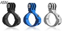 Алюминиевый велосипед адаптер держатель для Xiaomi Yi 2 4 К Камера велосипедное крепление для GoPro Hero 4 3 Sj4000 Go Pro Аксессуары