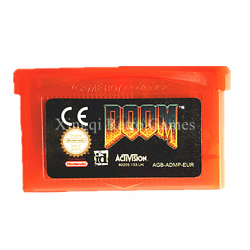 Nintendo GBA Game Doom Video Game Cartridge Console Card EU English Language