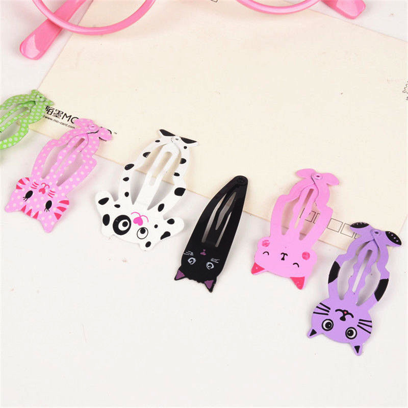 6pcs lot Fashion Women Animal Hairpin headwear kid's barrettes Hair clips Jewelry Snap Clips Children Hair Accessories new arrival ladies barrettes colorful dots cloth hair clips bb hairpin for girls women hair accessories 8pcs lot