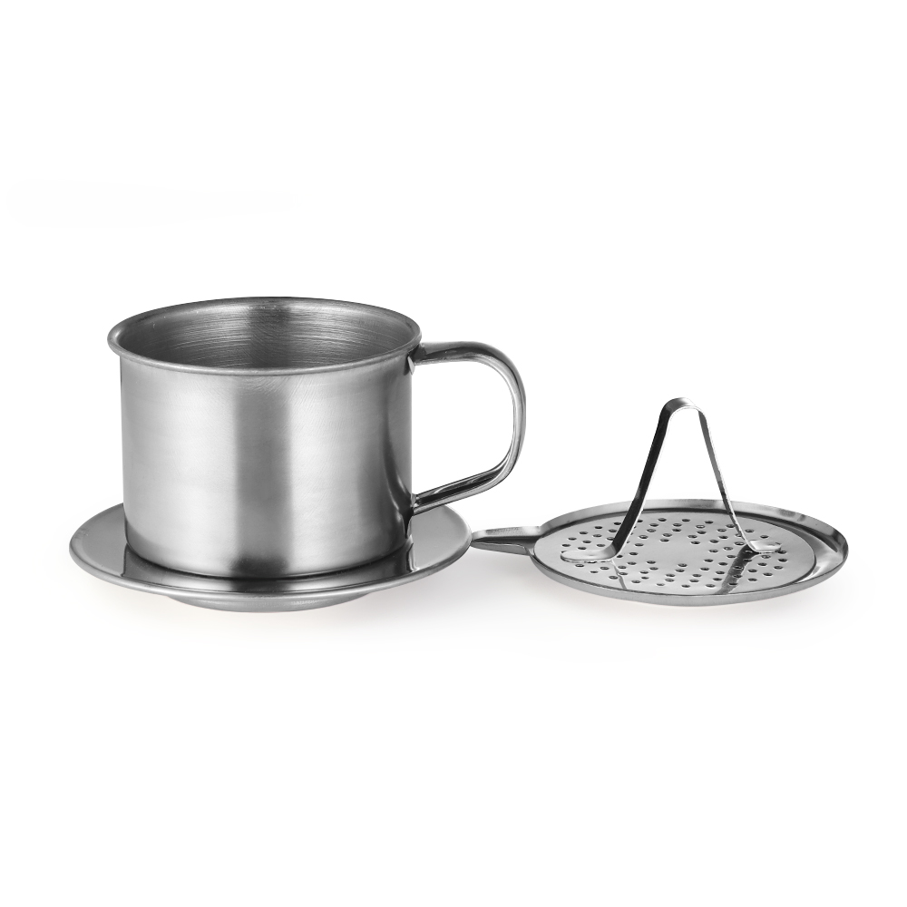 Stainless Steel Vietnam Vietnamese Coffee Filter Cup Drip Maker Infuser