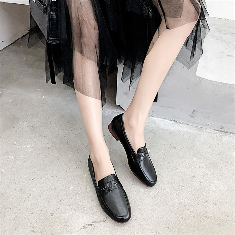 5530c6e3679 Aliexpress.com   Buy CONASCO New Women Low Heels Brand Pumps Top Quality  Genuine Leather Classic Brogue Shoes Female Round Toe Office Shoes Woman  from ...