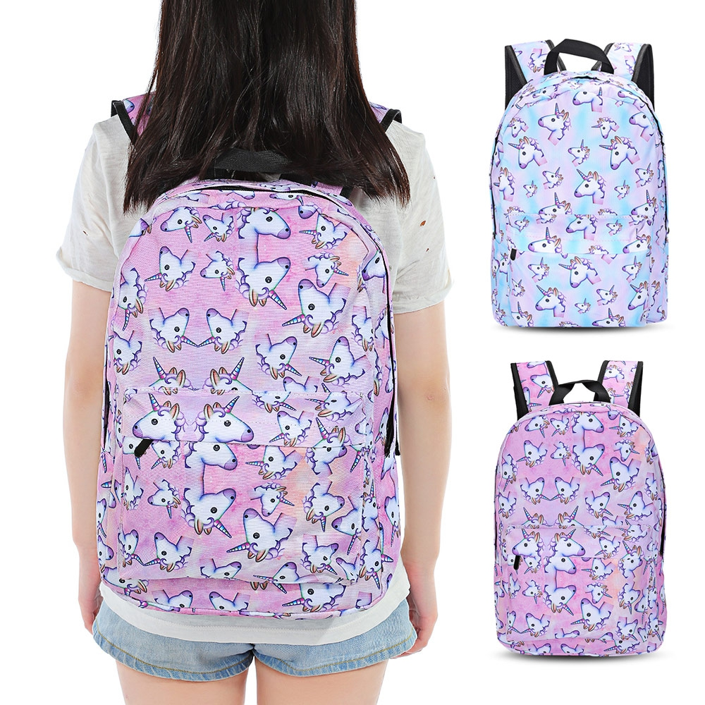 Школьные сумки для девочки путешествия девочек 3D Единорог Рюкзак с принтом для подростков школьный рюкзак