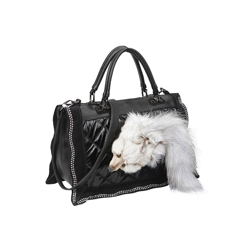 Vintage 2017 Fur Wild Fox Bag Tote Bag Luxury Genuine Leather Details Bolsos Mujer De Marca Famosa Women Girl Gift Wholesale мужской ремень cinto couro marca