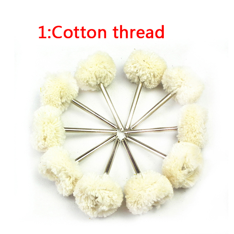 10pcs chiffon tampon de roue de polissage en coton pour accessoire - Outils abrasifs - Photo 4
