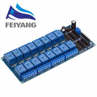 1PCS 12V 16 Channel Relay Module for arduino ARM PIC AVR DSP Electronic Relay Plate Belt optocoupler isolation
