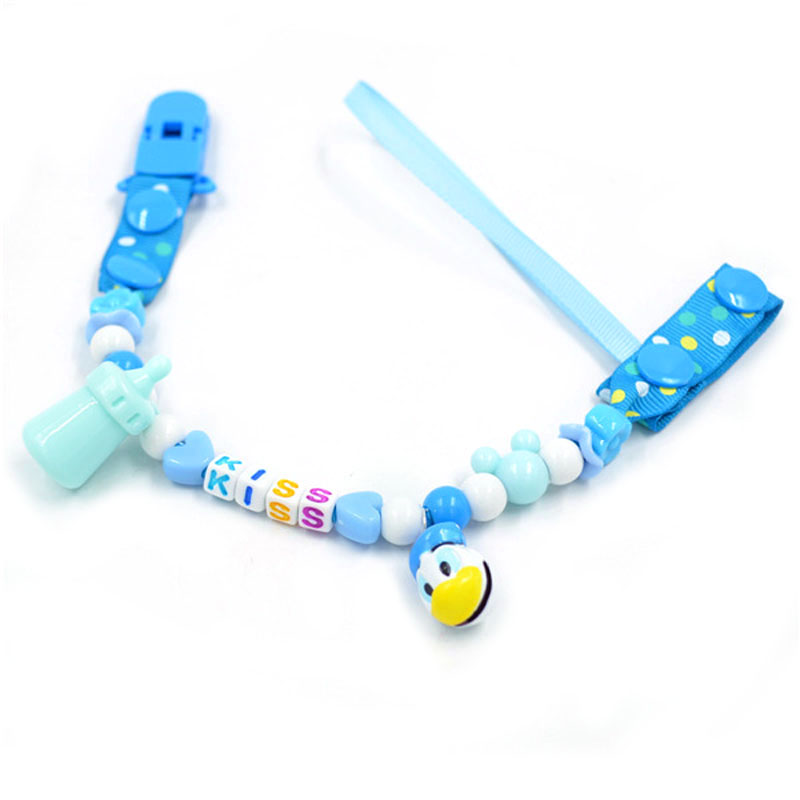 Baby Pacifier Clip With Bells Dummy Nipple Holder Sophie Strap Toy Leash Holder Teether Chain Pacifier Clip With Bells B0635