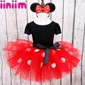 Iiniim Niños Niñas Bebés Minnie Mouse Tutu Dress con Diadema Ear Fiesta de Carnaval Traje de Lujo Ballet Dancewear Etapa