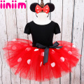 iiniim Kids Baby Girls Minnie Mouse Tutu Dress with Ear Headband Carnival Party Fancy Costume Ballet Stage Performance Dancewear
