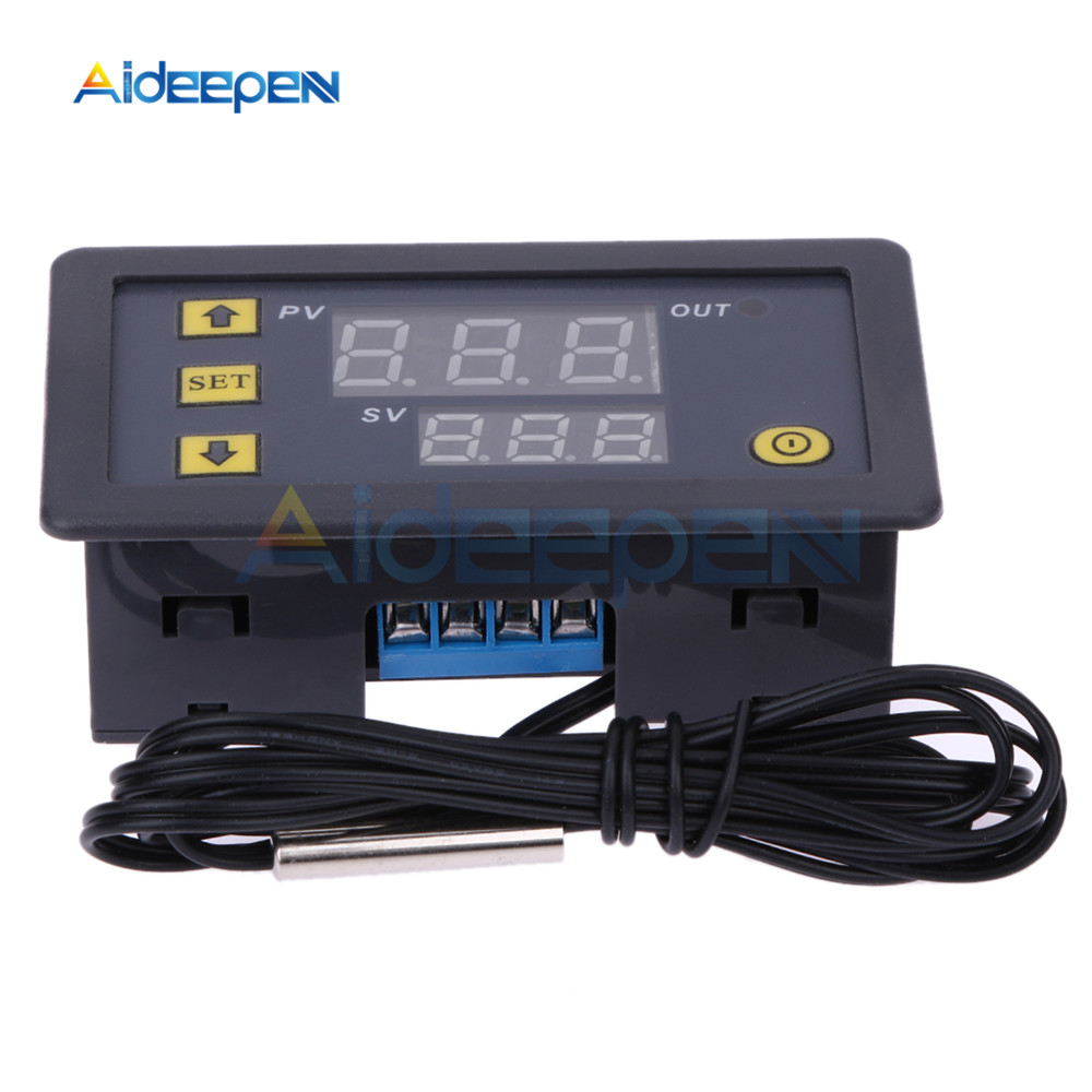 10pcs W3230 AC 110V 220V DC 12V Digital Thermostat Temperature Controller Regulator Heat Cool Control Instruments