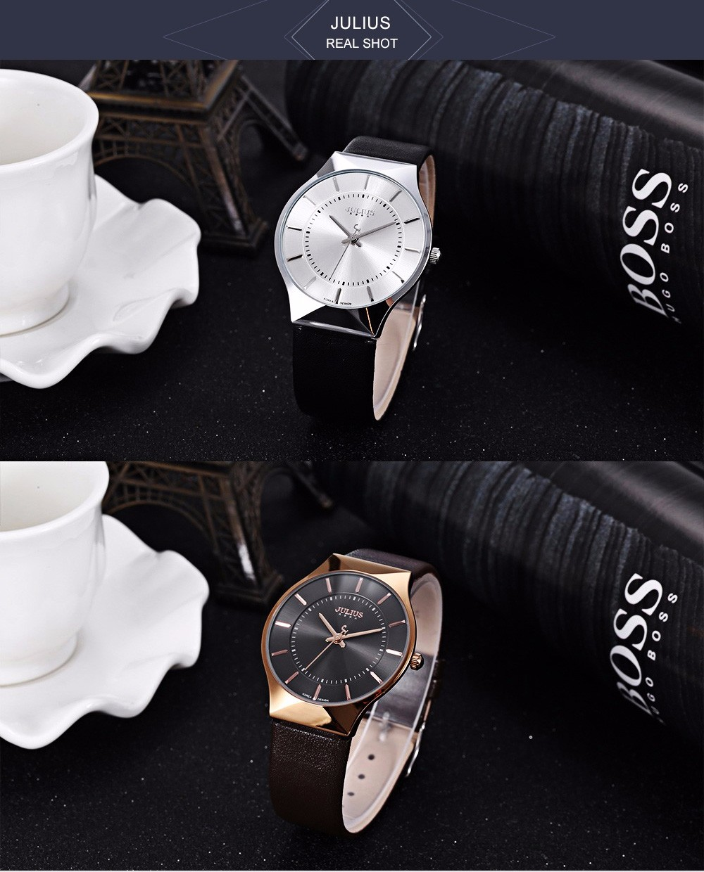 Julius Men Watch Stainless Steel Band Analog Display Quartz Wristwatch (17)