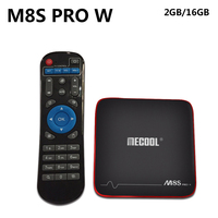 20pcs/lot MECOOL M8S PRO W TV Box S905W CPU Android 7.1 2G 16G Support 2.4GHz WiFi 4K H.265 Smart TV Box