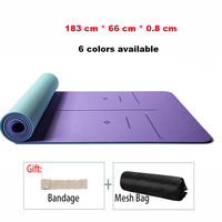 183*66*0.6 cm Non slip Yoga Mat Fitness Gym Pilates Pad Beginner Male Female Wildening Sport Mat With Bandage And Yoga Mesh Bag