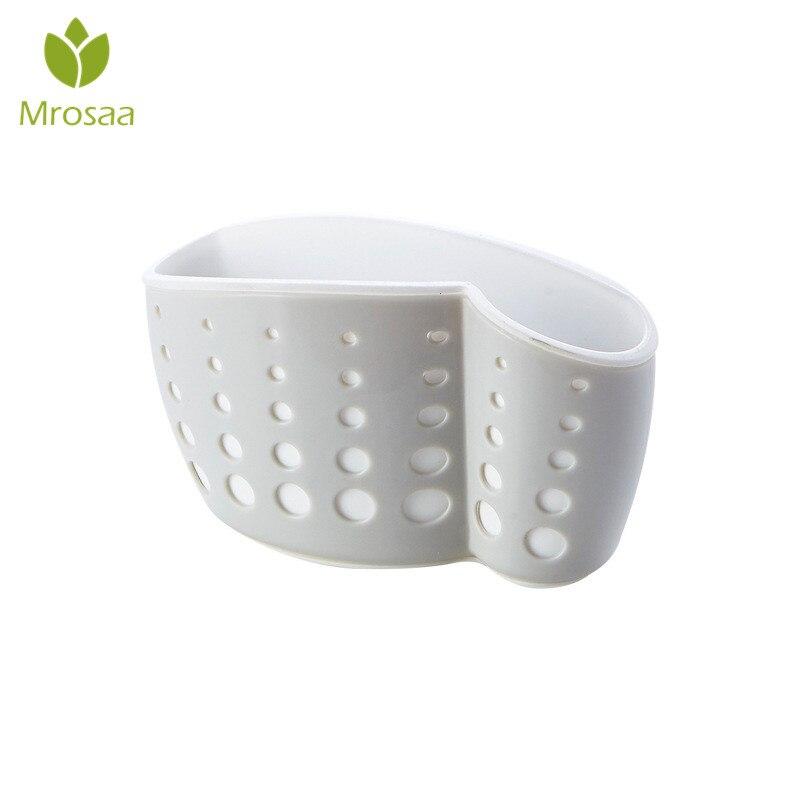 Sink Sponge Soap Kitchen Storage Rack Bag Hanging Water Leaking Basket Suction Cup for kitchen gadgets bathroom storage box