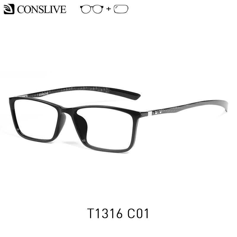 7g Carbon Fiber Glass Frame Men Ultralight Prescription Glasses Men Black Sqaure Eyeglasses with Lens Unisex Optical Spectacles