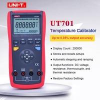 UNI T UT701 thermocouple temperature calibrator output voltage / Single Function Temperature Calibrator