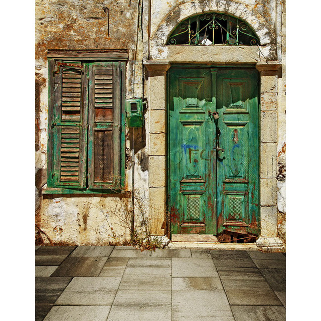 Customize Vinyl Cloth Print Textured Broken Door Photo Studio Backgrounds  For Photocall Portrait Photography Backdrops S