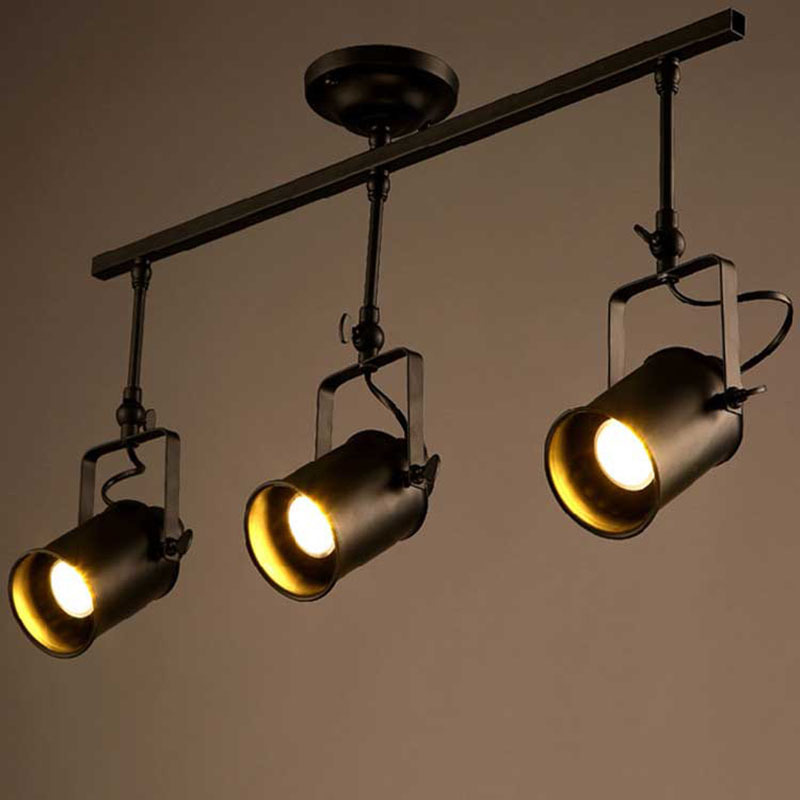 Vintage Loft led Track pendant Light RH Industrial Black Spot hanging light Lustres Bedroom bar clothing store lampVintage Loft led Track pendant Light RH Industrial Black Spot hanging light Lustres Bedroom bar clothing store lamp