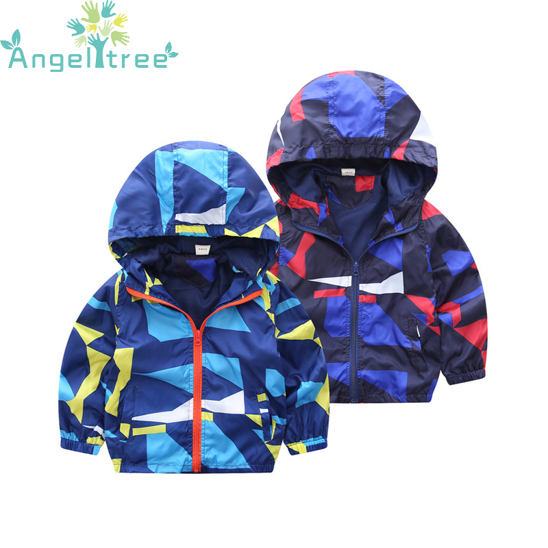 2017 Autumn Camouflage Jackets For Boy Coat Windbreaker Hoodies Jacket Children Clothes Boys Clothe Outwear Kids Clothing JSB342
