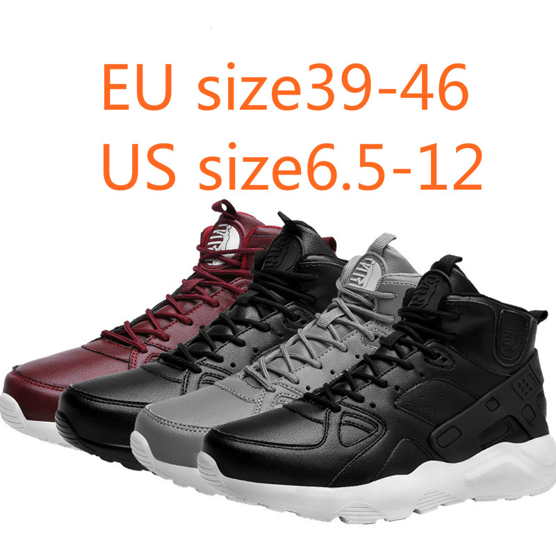 sneakers men 2018 spring new high leather basketball shoes outdoor anti vibration anti slip font b