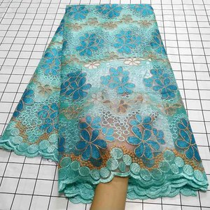 Image 3 - Aqua green African Swiss Voile Lace Fabric High Quality French Tulle Lace Fabric 2020 Nigerian Lace Guipure Embroidery Fabric