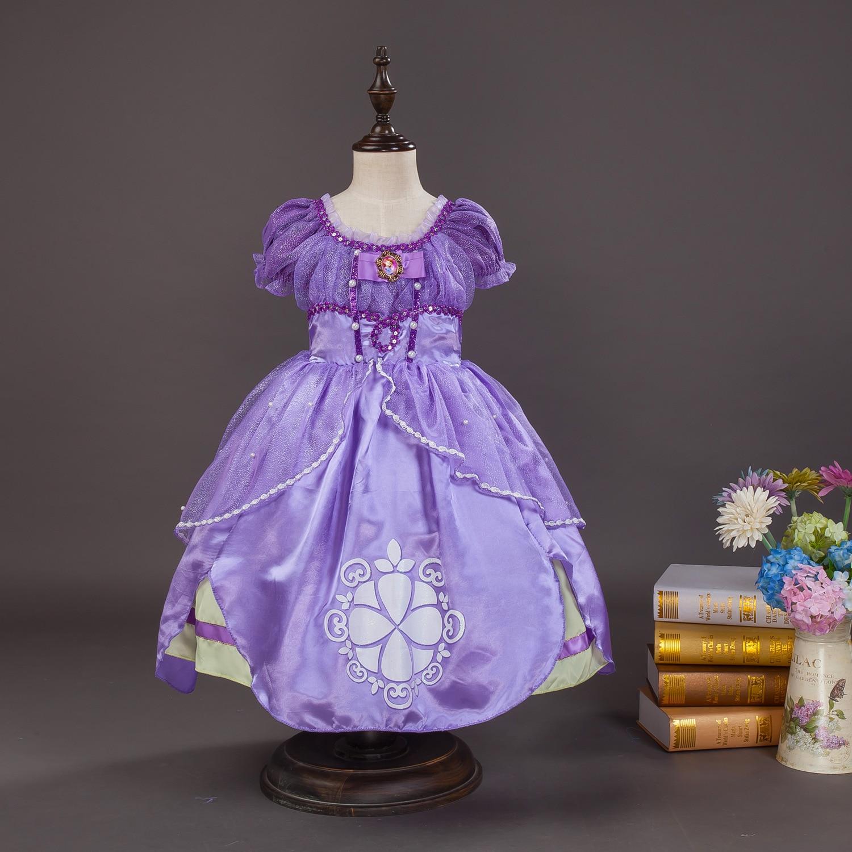 2016 vestido de niña Kids Girls Little Sophia Princess Party Fancy - Ropa de ninos - foto 2